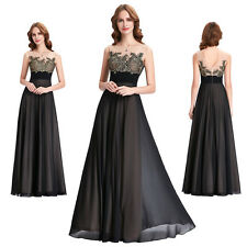 Long Chiffon Bridesmaid Dresses Black Party Prom Dresses Formal Evening Gowns
