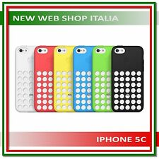 Cover Custodia in silicone per iphone 5C con logo Apple colori vari Bumper Facep