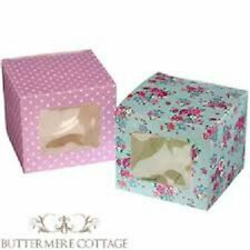 CUPCAKE FAIRY CAKE MUFFIN DISPLAY BOXES WITH WINDOW - PARTY, WEDDING FAVOUR