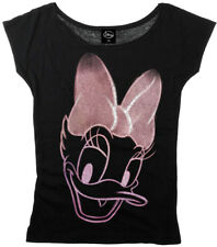 Disney DAISY Duck Reversed Scoop Neck Motiv T-Shirt SHIRT