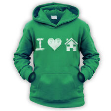 I Love House Music Kids Hoodie -x9 Colours- Dance Club DJ Rave Festival Beat