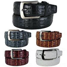 Faux Crocodile Skin Leather Belt Embossed Fake Croc Alligator Gator Unisex Women