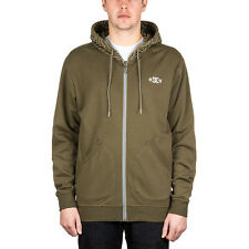DC Rob Dyrdek Topo Map Zip Hood Military Olive