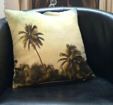 Palm Trees In The Wind With Flecked Cream Reverse Evans Lichfield Cushion Cover