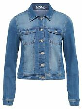 ONLY Damen Denim Jeansjacke Jacke NEW WESTA JACKET PIM 4203 NOOS 15114138 blau