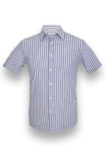 Chemise homme manches courtes COL BLEU - Chemise homme rayée taille M