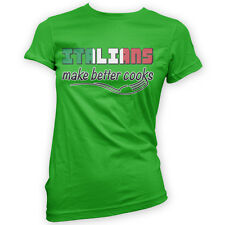 Italians Make Better Cooks Womens T-Shirt -x14 Colours- Baking Food Chef Italy