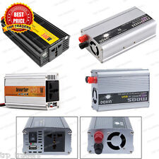 100/200/300/500/1000 Watt Car Auto Inverter/ Converter 12V DC to 220V AC + USB