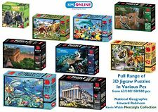 SUPER 3D JIGSAW PUZZLES NATIONAL GEOGRAPHIC KIDS EDUCATIONAL BRAIN MIND TEASER