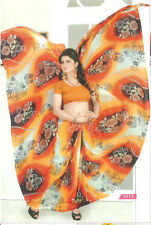Synthetic Fabric Printed Fancy Designer Saree with Blouse Piece