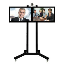 B-Tech Twin Screen Conference Trolley (2 x 42 TV's) 2 Colours - BT8511