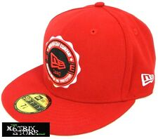 NEW ERA SHIELD LOGO 59FIFTY FITTED CAP - SCARLET