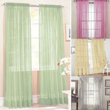 100x200cm Window Door Curtain Panel Drape Tulle Room Valance Voile Divider Decor