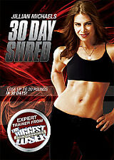 JILLIAN MICHAELS 30 DAY SHRED FITNESS TRAINING WORKOUT WEIGHT LOSS DVD NEW UK