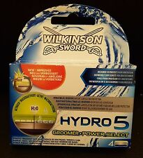 Wilkinson Sword Hydro 5 Groomer & Power Select Razor 4 Blades, CHEAPEST ON EBAY