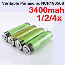 UK 1/2/4x PANASONIC NCR18650B 18650 3.7V 3400 MAH BATTERIA LITIO RICARICABILE