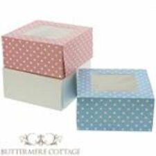 4 CUPCAKE FAIRY CAKE MUFFIN CAKE DISPLAY BOX + WINDOW - PARTY, WEDDING FAVOUR