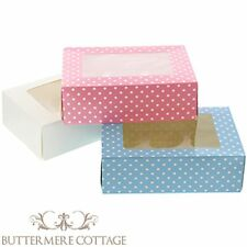 6 CUPCAKE FAIRY CAKE MUFFIN CAKE DISPLAY BOX + WINDOW - PARTY, WEDDING FAVOUR