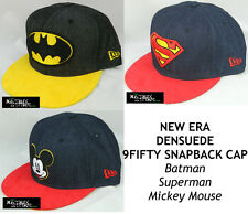 NEW ERA DC COMICS/DISNEY DENSUEDE 9FIFTY SNAPBACK CAP - BATMAN/SUPERMAN/MICKEY