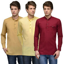 Feed Up Men's Cotton Kurta - Pack Of 3