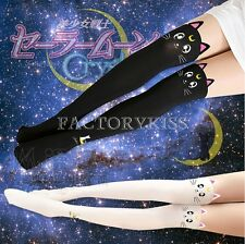 1x Pair Cat Pantyhose Anime Cosplay Manga Sailor Moon Japanese Unique Cool FLH