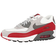 NIKE AIR MAX 90 GS ZAPATOS GRIS ROJO ZAPATILLAS 705499-003 LTD BW CLASSIC
