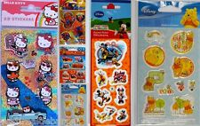 10 Blisters Stickers Adesivi Hello-Kitty Disney Spiderman Cars Winnie-Pooh d471