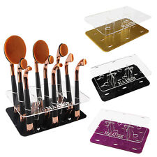 9 Hole Oval Cosmetic Makeup Brushes Toothbrush Holder Acrylic Display Stand