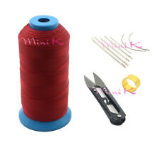 Nylon Sewing Thread Curved Needles Scissors and Thimble Tools Kits For Leather
