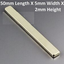 2 to 20 pieces lot - 50 mm x 5 mm x 2 mm Rare earth neodymium strong magnet N52