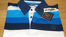 New Paul and Shark polo Shirt Blue & White size XXL, 3XL Superb Color Must!