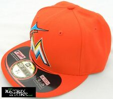 NEW ERA ACPERF MLB 59FIFTY FITTED CAP - MIAMI MARLINS - ORANGE