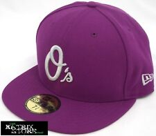 NEW ERA SEASONAL CONTRAST MLB 59FIFTY FITTED CAP - BALTIMORE ORIOLES - GRAPE