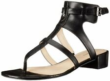 Nine West Women's Justnice Black Strappy Dress Low Heel Sandals