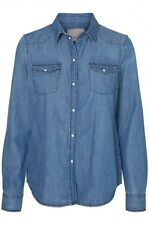 Vero Moda Damen Jeanshemd VMDAISY DENIM SHIRT MB