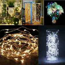 2M 20 LEDs Battery Operated Mini LED Copper Wire String Fairy Lights UK