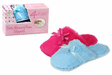 Girls/Kids Memory Foam Gift Boxed Soft Warm Slipper Mules - Various Sizes