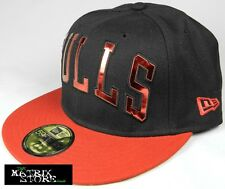 NEW ERA NBA SHY 59FIFTY FITTED CAP - CHICAGO BULLS - BLACK/SCARLET