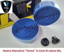 "840AZ Nastro Manubrio ""Vicma"" in Cork di colore Blu per bici 26-28 Single Speed"