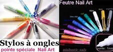 NEW STYLO & FEUTRE 10 couleur LINER manucure NAIL ART french design ongle verni