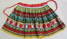 Vintage 1950's half apron fruit cherry bright design red green vintage bake off