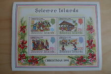 SOLOMON ISLANDS CHRISTMAS 1991 # 702 A SOUVENIR SHEET MNH