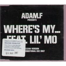 ADAM F FT LIL' MO Where's My CD 2 Track Clean Version Promo With Info Stickered