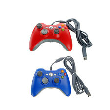Wired Game Controller Joypad Joystick For Xbox 360 PC Red Blue