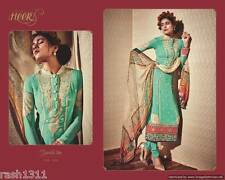 Designer Green Georgette Embroidered Dress Material With Chiffon Dupatta SC5906