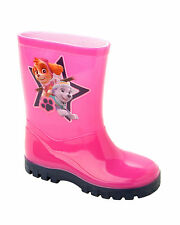 GIRLS OFFICIAL PAW PATROL PINK WELLIES WELLINGTON RAIN SNOW BOOTS UK SIZE 5-10
