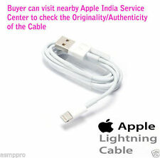100% Original Apple 8 pin Lightning USB Data Sync Cable iPhone 5 5s 6 6S Plus