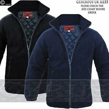 Mens Padded Quilted Jacket Thick Anti Pill Fleece Winter Warm Casual Coat Work