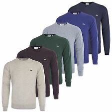 LACOSTE JUMPER - LACOSTE WOOL CREW NECK KNIT - AH2995 -NAVY/GREY/BURGUNDY & MORE