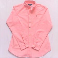 "Womens Ralph Lauren Polo Oxford Cotton ""Harper"" Shirt Custom Fit Pink RRP £95"